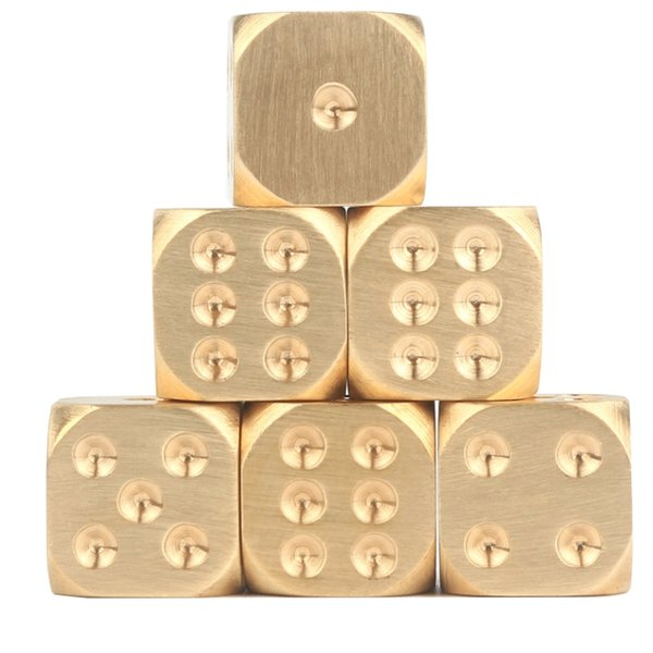 Family party game Brass dice Pure copper solid dice Hand polished Bar supplies Drinking More fun.