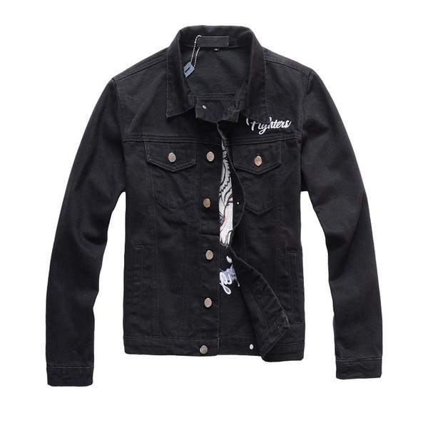 Denim Jacket Fashion Luxury Winter Autumn Slim Fit leather bomber jackets for Men Women Jacket Street