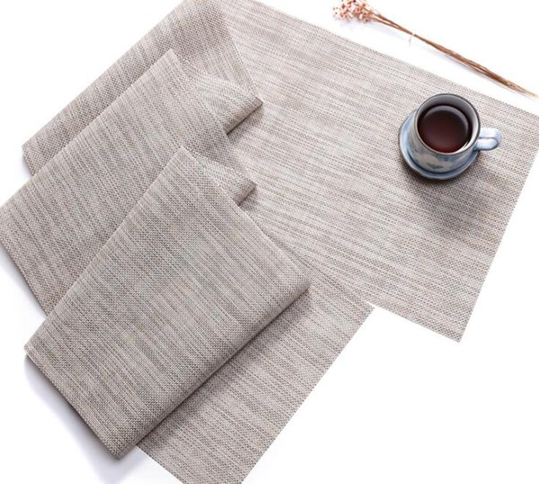 30x180cm Vinyl and Polyester Solid Table Runner PVC Table Cloth Heat Insulation Table Mat Japan Style
