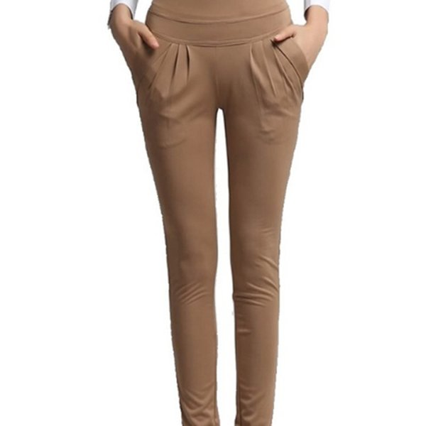 Pencil Casual Black Pants Women Spring Summer Autumn Suit Nine Pants Trousers Women Slim Women's Feet Elastic Waist