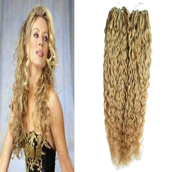 New Micro Loop 1g Curly 200s Apply Natural Hair Micro Link Hair Extensions Human Hair 200g Micro Bead Extensions