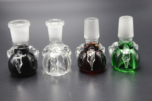 Dragon Claw Bowl Colorful Glass Bowl Joint With 14mm 18mm Male Female Joint For Oil Rigs Glass Bongs Water Pipes