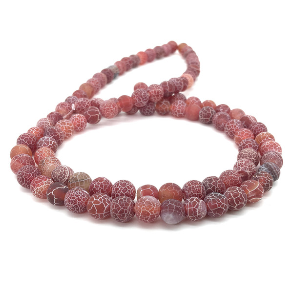 Stoyuan Beads Smooth Genuine Natural Weathering Agate Round Loose Beads HealingStones Jewelry 8mm 15''/strand