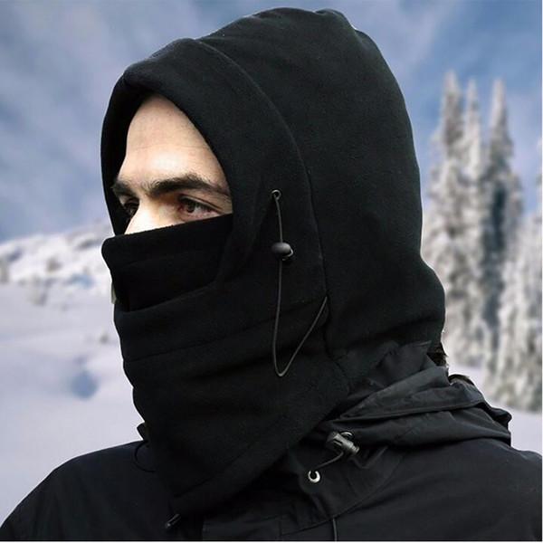 6 Farben Outdoor Maske Winter Fahrrad Radfahren Caps Doppelschicht Polar Fleece Vollgesichtsmaske CS Warm Winddicht Hüte Schal Skifahren Unisex