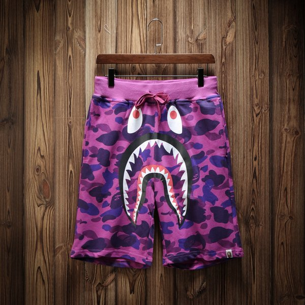 9be753838c Luxury Summer Shorts Brand Men's Beach Pants With Shark Shorts Camouflage  Fashion Designer Pants Letters Knee