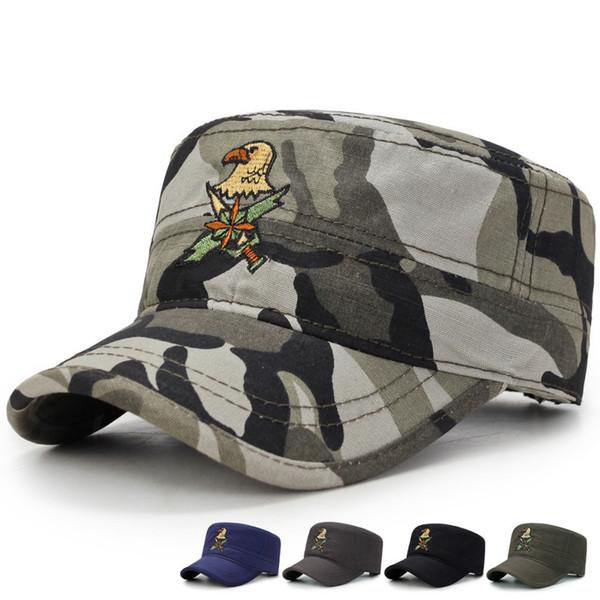 Tactical Camo Cap Men SWAT Army Combat Snapback Hat Militar Outdoor Camouflage Gorras Baseball Caps Adjustable Cotton Flat Cap