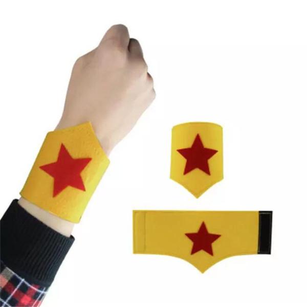 Children Felt Wristband Halloween Cartoon Character Bracelets Kids Felt Wrist Strap Boy Girl Birthday Party Toy Gift Cosplay Bangle