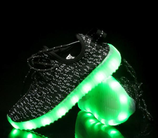 venta oficial venta caliente barato comprar baratas Compre Niños Luminosos Zapatillas De Deporte Luminosas Zapatillas De Niños  Con USB Luces De Navidad Zapatos Iluminados De Navidad Niña Niño Tenis ...