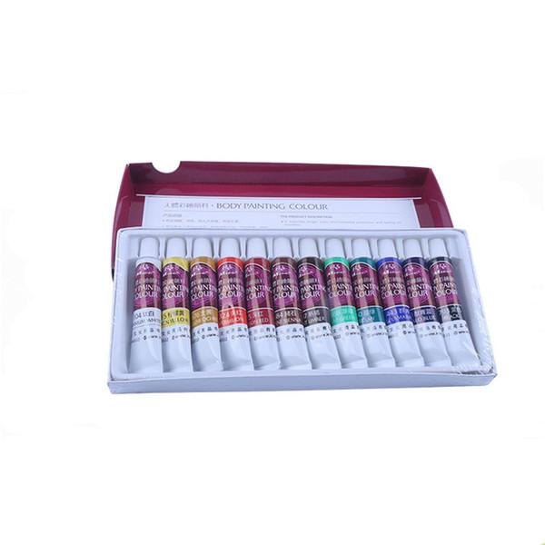 Colorful Body Painting Crayon 12 Colors Oil Painting Makeup Pigment Kids Halloween Face Body Paint Set Face Color Pen