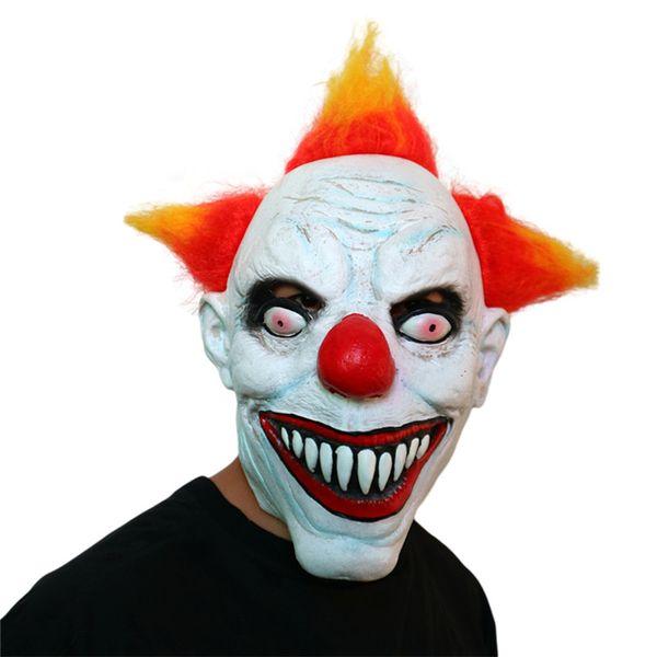 Nuevo Carnival Halloween Horror Máscara Hood Surprised Movie Theme Ball Prop Divertido Payaso Devil Mask Cosplay Prop