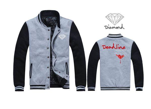 Hombres libres del envío Hip hop sudadera Ropa deportiva Sudadera Diamantes O-cuello Prendas de abrigo Moda Casual Diamond Supply chaqueta J13