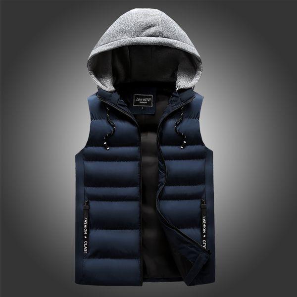 classic men's down jackets vintage elegant casual vests korean streetwear winter warm clothing dress canada coats vests for men