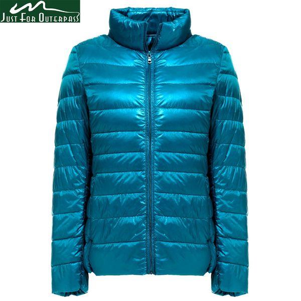 2018 New Autumn Winter Ultra Light Down Jacket Women Windproof Warmth Women's Lightweight Packable Down Coat Plus Size Parkas