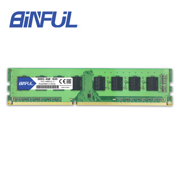 4gb 1600mhz Binful original New Brand DDR3 PC3-12800 4GB 1600mhz for Desktop RAM Memory 1.5V Compatible with all motherboards