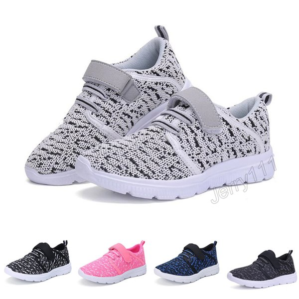 Kids Shoes 5 Colors 3-13 years old kids sneakers boys girls shoes with retail box children fashion casual breathable shoes LA911