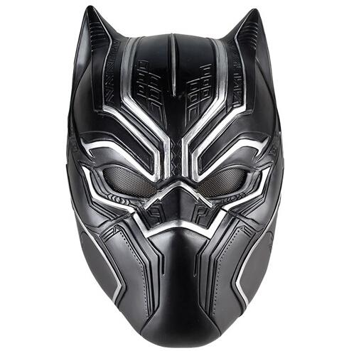 Black Panther Masks Movie Fantastic Four Cosplay Men's Latex Party Mask for Halloween Cosplay-Props Marvel Superhero Figure