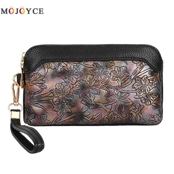 Zipper Casual Women PU Leather Clutch Sacchetto del telefono del sacchetto della borsa Borse da donna carteras y bolsos de mujer