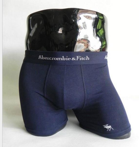 Fashion Men Underwear Boxers Cotton M-XXL Breathable Letter Underpants Shorts Brand Design Tight Waistband