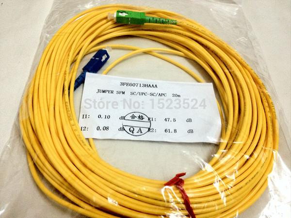 Free Shipping 9/125 3mm 20M SM Simplex SC-SC Fiber Optic Jumper Cable SC/APC-SC/UPC Fiber Optic Patch Cord