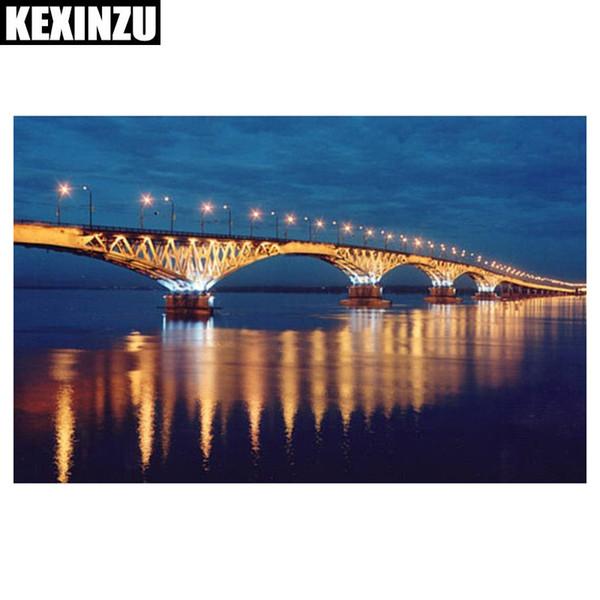2018 Yeni 5D Diy Elmas Boyama Parlak köprü Dikiş Çapraz tam Elmas Nakış Elmas Mozaik Çıkartmalar Ev Dekor
