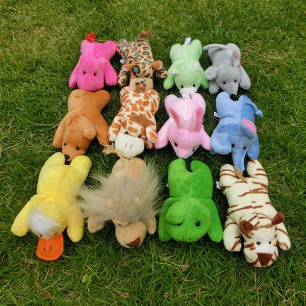 Conjunto Completo 12 Tipos de Curto Macio Animais De Pelúcia Brinquedos Magnéticos Bebê Educacional Imãs de geladeira Brinquedos 12 cm Frete Grátis