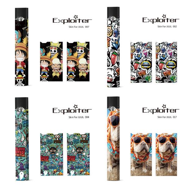 Skins Wraps Sticker Cases Abdeckung für Juul Batterie Schutzfolie Hot Stickers OEM Logo für Juul Kits Patronenhülsen DHL Free!