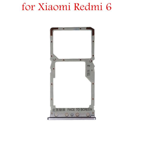 for Xiaomi Redmi 6 Card Tray Holder Micro SIM Nano SIM SD Card Slot Adapter Holder for Xiaomi Redmi6 Repair Spare Parts