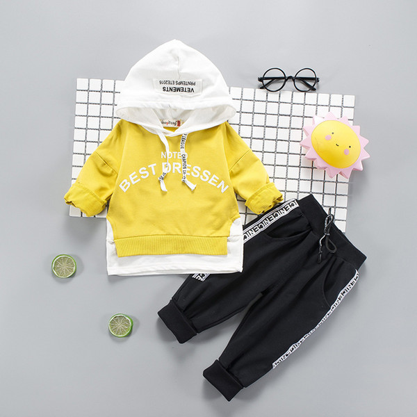 2018 Baby Boys And Girls Suit Brand Tracksuits 2 Kids Clothing Set Hot Sell Fashion Spring Autumn Children's Dresses Long Sleeve 1-9