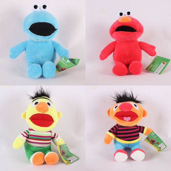 best selling Sesame Street Elmo Plush toys cartoon Stuffed Animals 22cm 9 inches for children Christmas gift C5335