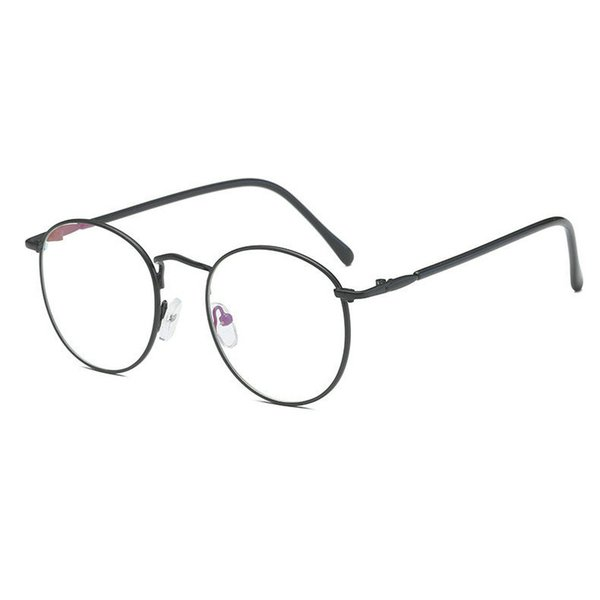 2018 New Round Art Gold Fine Wire Optical Metal Spectacle Frame Women's Myopia Frame Men's plain light cosmetic glasses JW