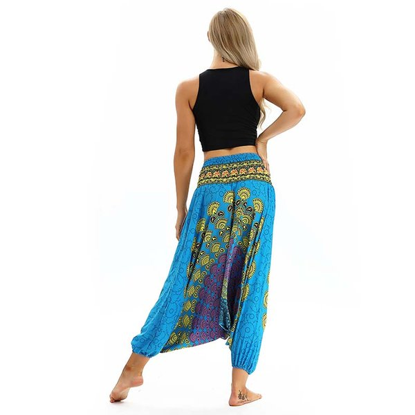 2018 Women Lantern Pants Soft Comfortable Yoga Excercise pants Polyester Thailand Elastic Dancing Loose Trousers Free Shipping