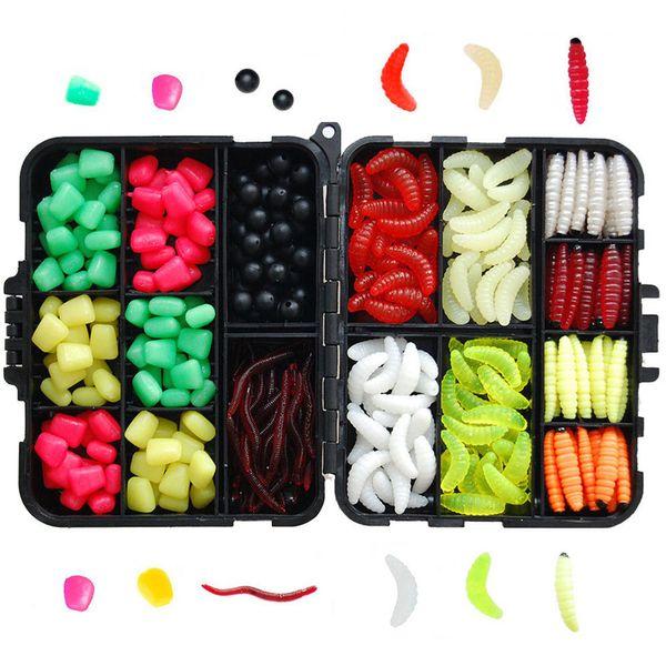 Carp Fishing Tackle Box Kit Fishing Accessories Mixed Beads Soft Lures Imitation Baits Carp Gear Kit