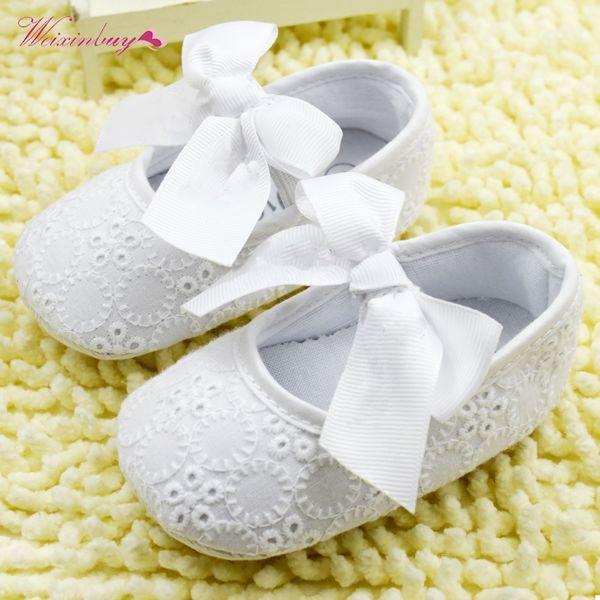 Compre Zapatos De Encaje Lindo Bebé Niña Bowknot Toddler Prewalker ...