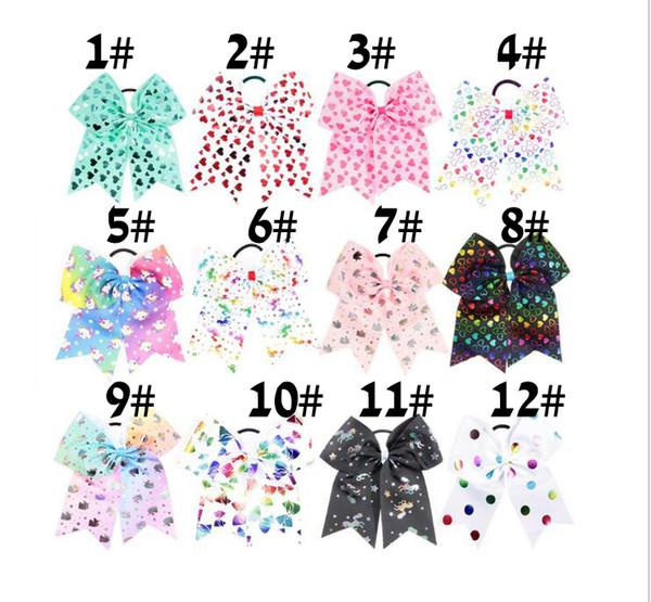 12 colores Sólidos Arcos Swallowtail Arqueamientos coloridas Niñas unicornio Grosgrain Cinta diadema Arco de pelo Niños Boutuique Accesorios para el cabello 17 * 21 cm