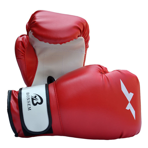 1pair Pu Leather Boxing Gloves Adjustable Professional Sanda Karate Fighting Hand Protector Mittens Adults Glove High Quality 23bl ZZ