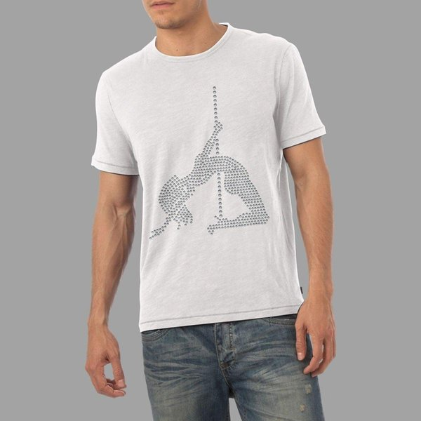 Men's Pole Dancer Rhinestone T-Shirt