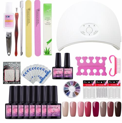 best selling 24W 36W USB UV LED Lamp For Nail Dryer Machine 4pc 8pc Gel Polish Nail Art Tools Full Manicure Uv Nail Polish Laquer