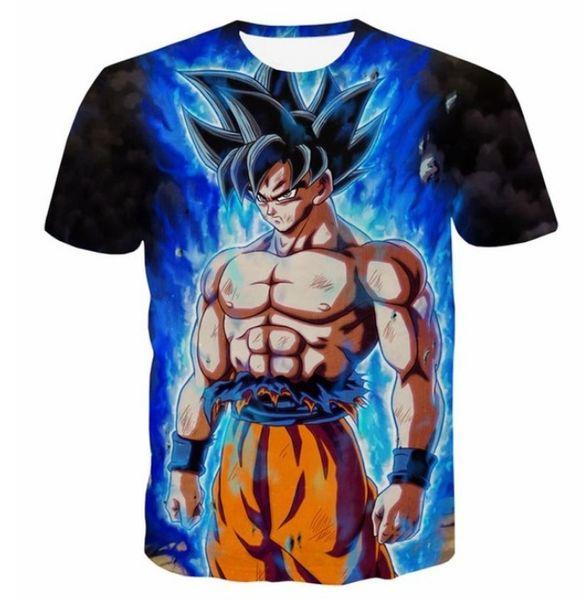 Männer Casual 3D Kleidung Kurzarm Lose Dragon Ball Super Z Ultra Instinkt Super Saiyajin Son Goku 3D Gedrucktes T-Shirt XTXS041