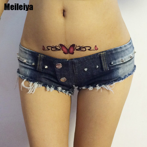 New Sexy High Cut Micro MINI Jeans Hot Shorts Double Button Low Rise Waist Booty Short With Zipper Open Crotch Erotic Culb Wear