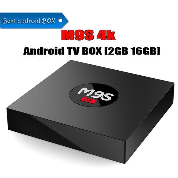 2 Go 16 Go Android 6.0 TV BOX M9S K3 Rockchip RK3229 Quad Core BT2.1 WIFI 4K Lecteur multimédia Meilleur TX3 MINI S905W