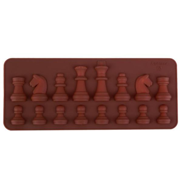 1 Stücke Antihaft-silikon Schokoladenformen DIY Schach Geformte Gelee Süßigkeiten Fondant Eis Formen Kuchen Backformen Backwerkzeuge