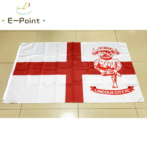 Inglaterra London City FC 3 * 5 pies (90 cm * 150 cm) Bandera de EPL de poliéster Decoración de la bandera volando la bandera del jardín de su casa Regalos festivos