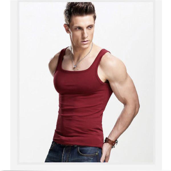 Marque mens t shirts coton d'été Slim Fit hommes débardeurs vêtements Bodybuilding Undershirt Golds Fitness tops t-shirts
