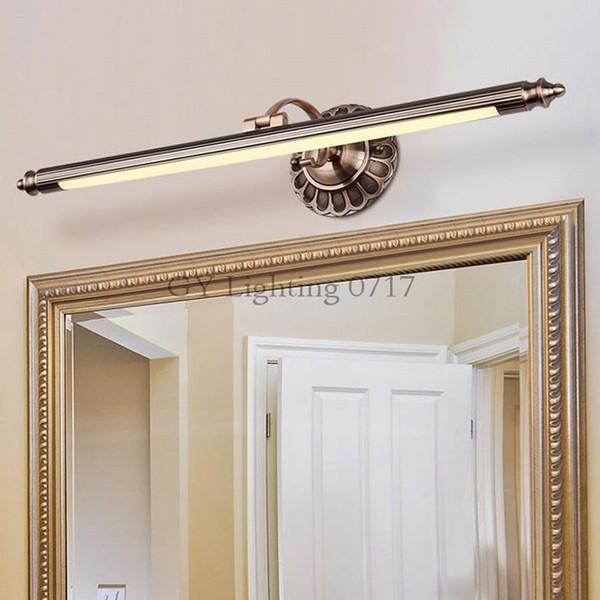 Acheter Moderne L50cm 70cm 90cm Bronze Rouge LED Miroir Lumières Applique  Murale Salle De Bains Longue Applique Murale Lampe Déco Lampe De Toilette  ...
