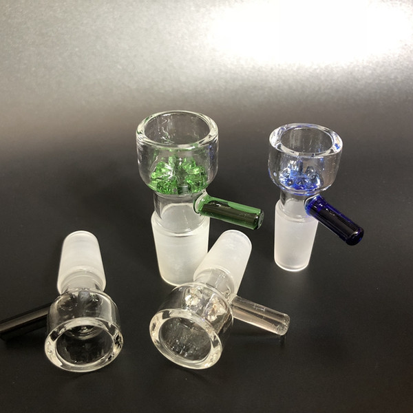 top popular wholesale slide glass bowls 10mm 14mm 18mm with snowflake filter bowl for Glass Bongs and Ash Catcher Glass smoking Bowl 2019
