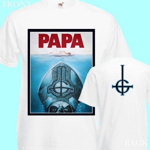 2018 с коротким рукавом хлопок футболки человек одежда призрак папа белый-новый футболка мужская-DTG печатных TEE S-3XLTops футболка Homme