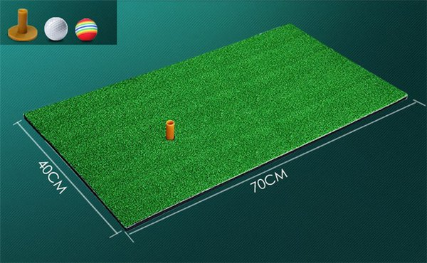 """best selling 70*40cm Backyard 16""""*28"""" Golf Mat Indoor Residential Golf Training Hitting Pad Practice Golf Hitting Mats with Tee & ball"""