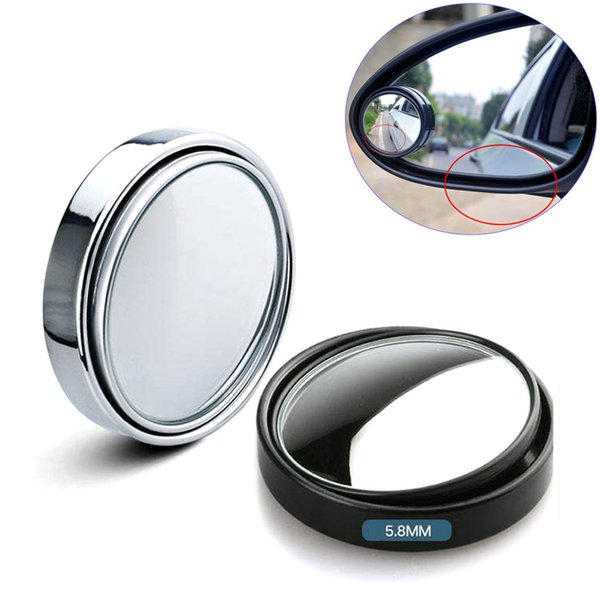 2pcs Car Blind Spot Mirror Rearview Side Mirrors 360 Degree Adjustable HD Convex Glass Dead Zone Viewing Wider View for Back Cars