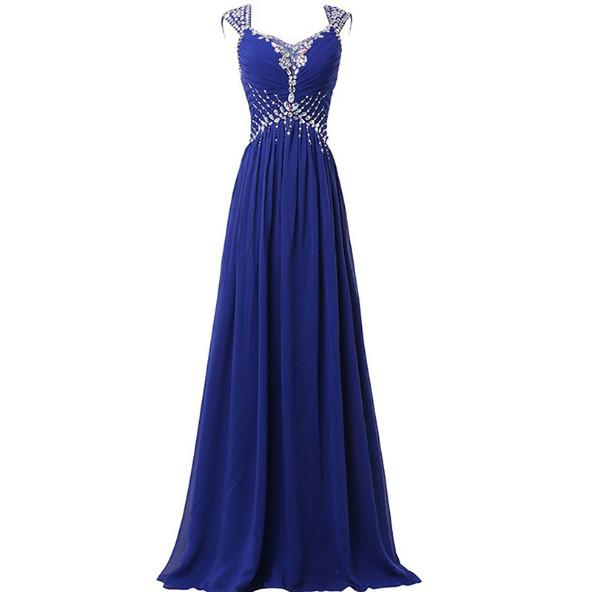 2018 A-Line Scoop Long Prom Evening Dress for Women Formal With Lace Up Sleeveless Prom Evening Gowns