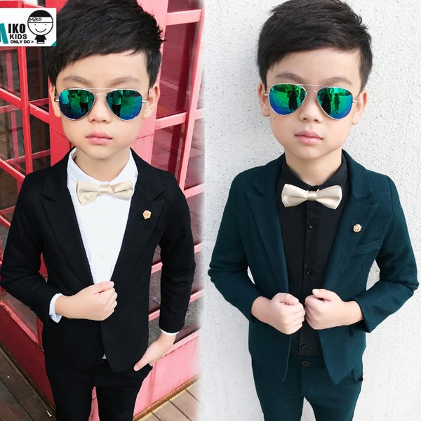 Baby Prom suits wedding flower boy dress Good Quality Child costumes 2-12Yrs Kids Slim Clothes Sets